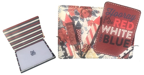 cards made with red white & blue scrapbook collection by photoplay