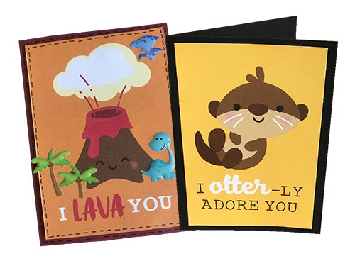 lava and otter cards made with so much pun