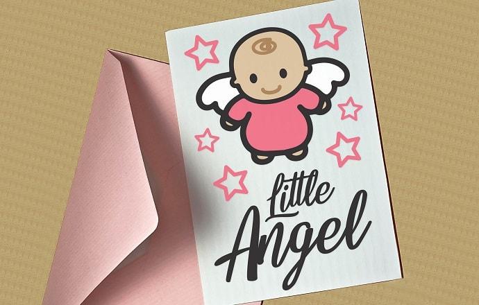little angel card SVG concept
