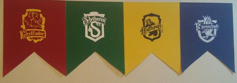 hogwarts house banners harry potter decor