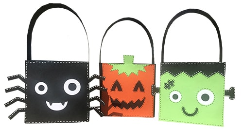 halloween treat bag set paper project
