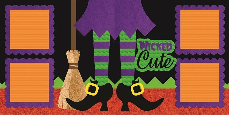 wicked cute halloween scrapbook layout design concepts