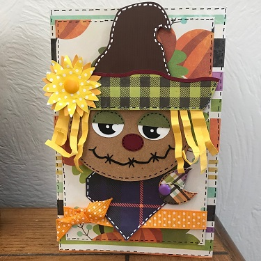 completed scarecrow svg project