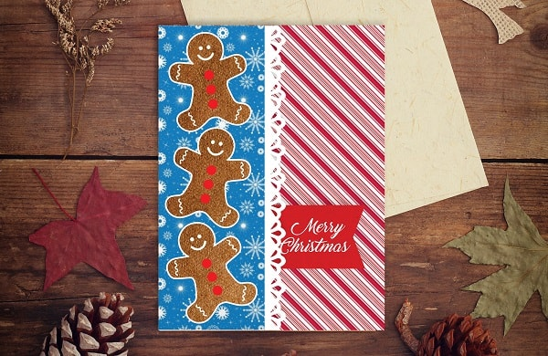 gingerbread christmas card project concept for svg design