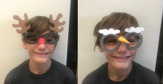 holiday glasses project completed for svg design