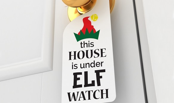 house under elf watch project concept for svg design