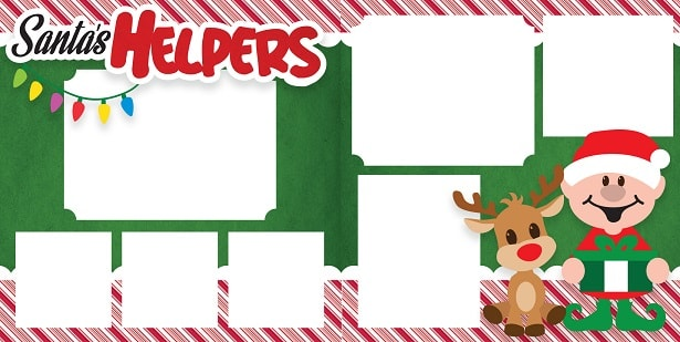 santa's helpers layout project concept for svg design
