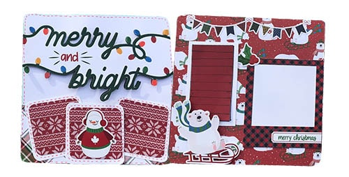 pages 3 and 4 from the mini Christmas scrapbook album