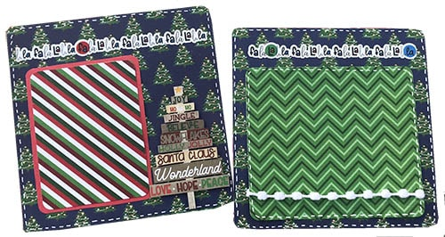 pages 5 and 6 from the mini Christmas scrapbook album