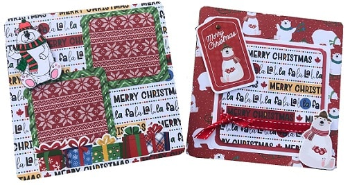 pages 9 and 10 from the mini Christmas scrapbook album