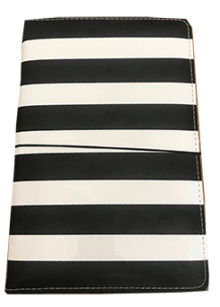 front view of Heidi Swapp Journal Studio Stripe Journal Kit