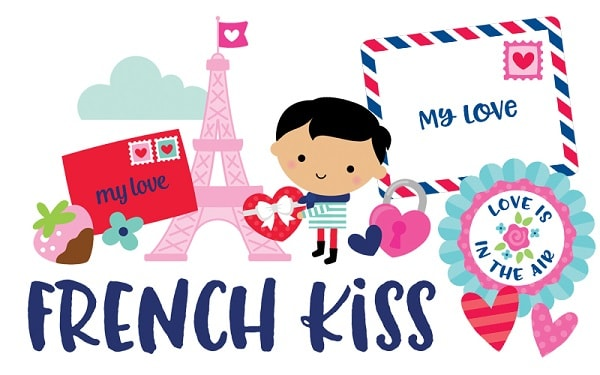 icons and phrases from the Doodlebug French Kiss collection