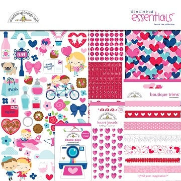 french kiss essentials kit for scrapbooking