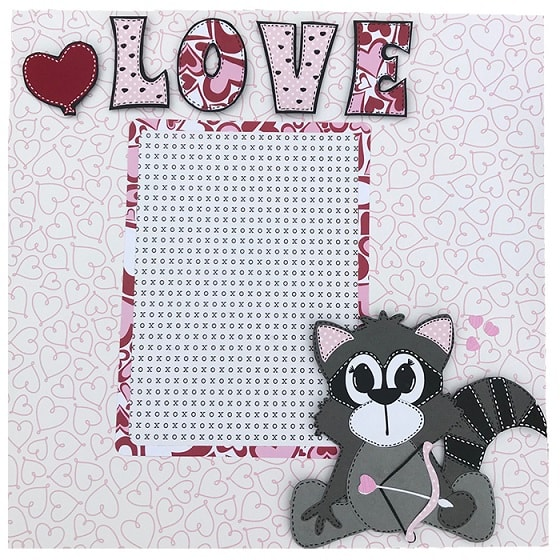 love valentine's layout project