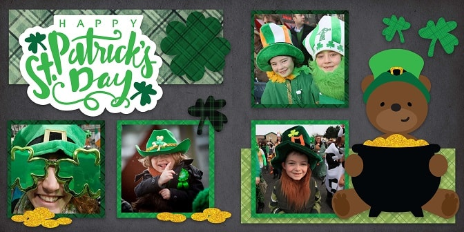 lucky bear st. patrick's day layout SVG design concept