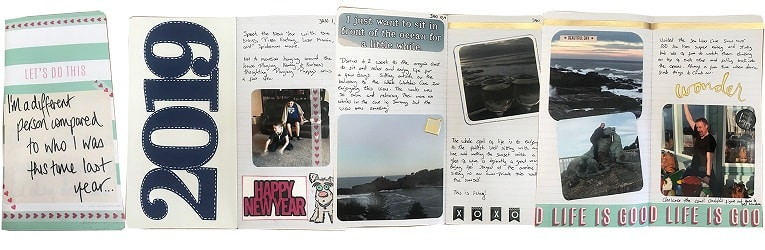 examples of completely decorated planner pages