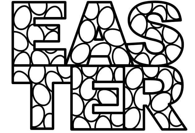 easter foil letters design concept