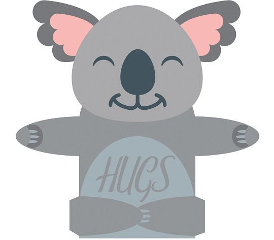 hugging koala bear card concept of svg download