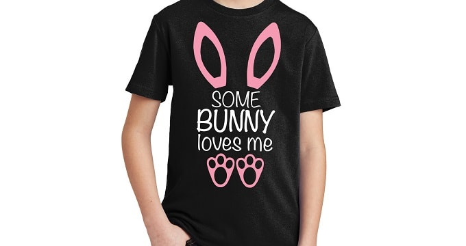 some bunny loves me t shirt design concepts