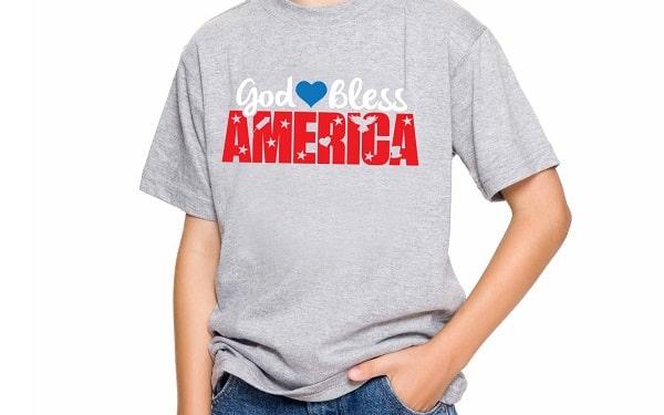 god bless america svg t-shirt design concept