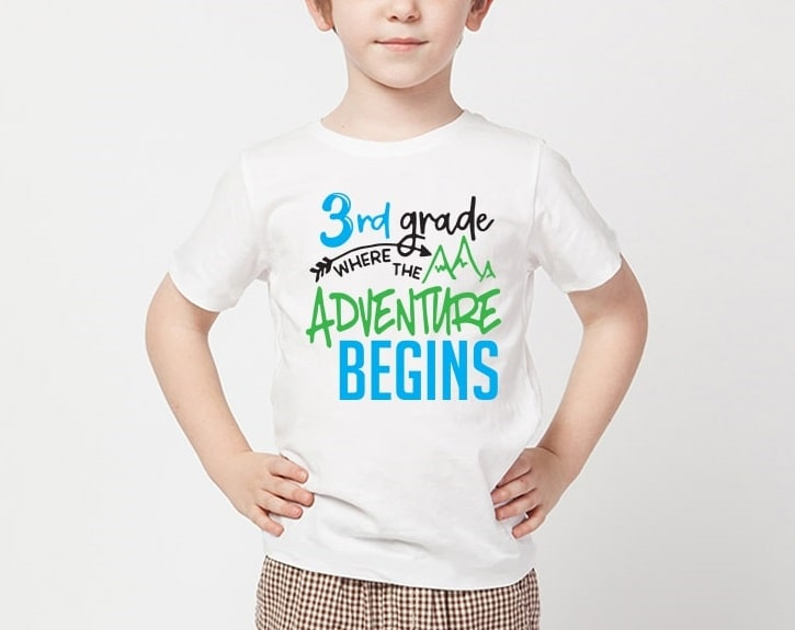 where the adventure begins t-shirt project concept