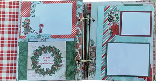 country christmas snap album club kit project pages example 2