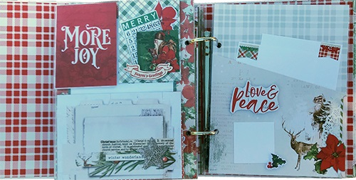 country christmas snap album club kit project pages example