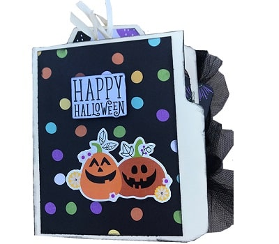 say cheese halloween mini folder album project completed