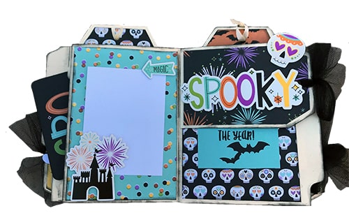 say cheese halloween mini folder album club kit project pages example