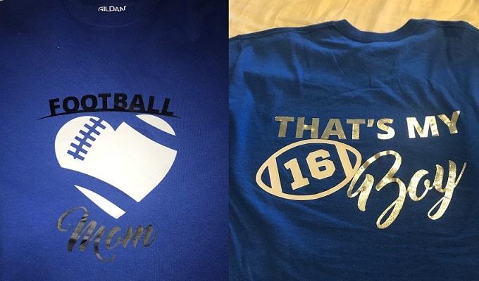 completed football mom tshirt svg design