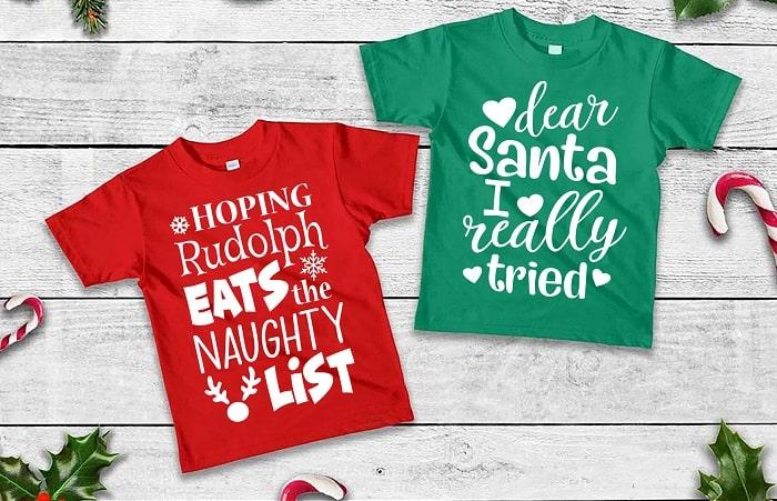 christmas naughty shirts design download concept