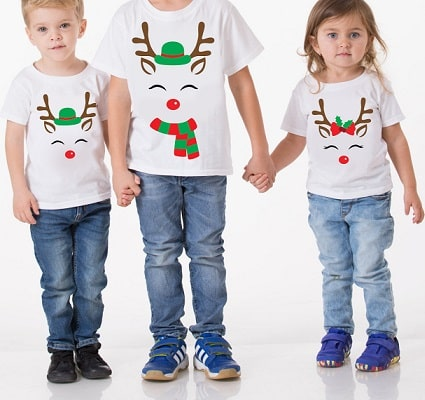 reindeer face shirts design download concept