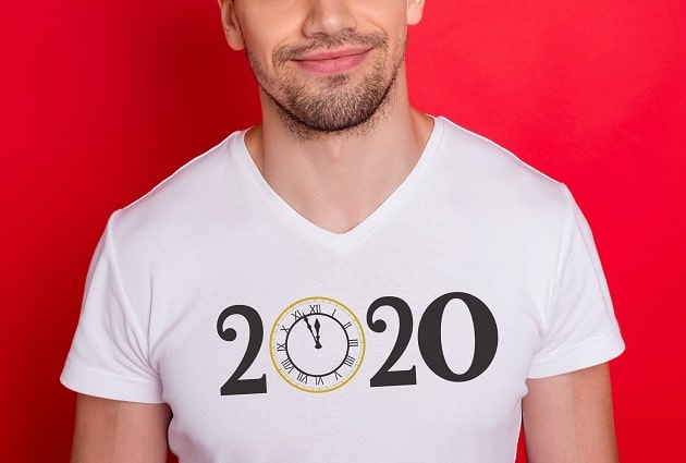 new year 2020 clock shirt SVG concept