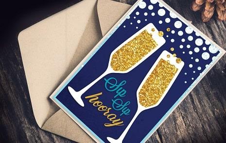 sip sip hooray card SVG concept
