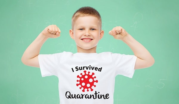 i survived quarantine tshirt design concept