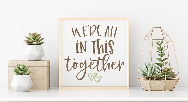 we're all in this together print concept