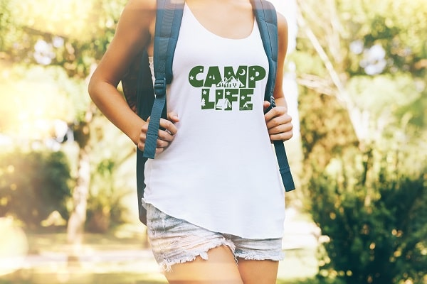 camp life t-shirt design concept