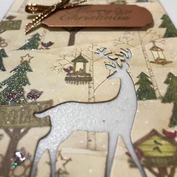 darling deer thinlits card front design