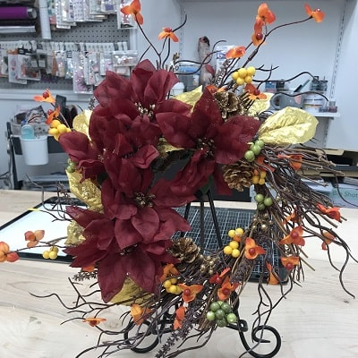 foundations decor fall wreath project completed