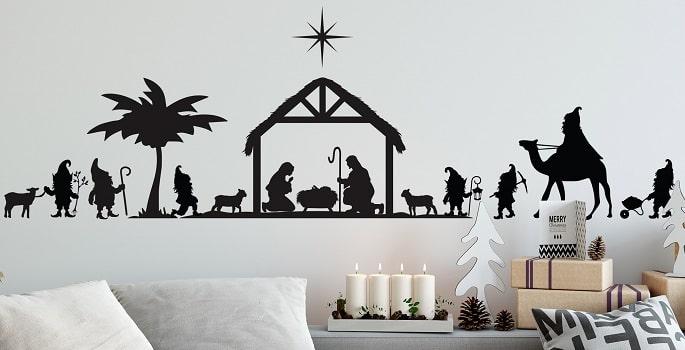gnome nativity scene decor design concept