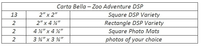 instructions for cutting zoo adventure layout
