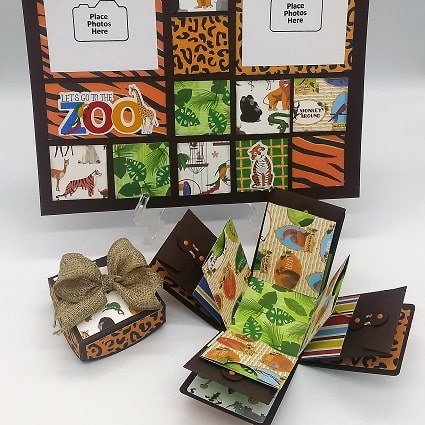 completed projects for zoo adventure, layout and explosion box