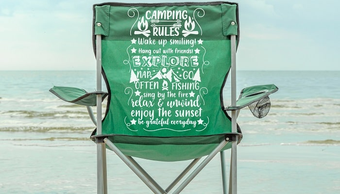 camping rules svg design concept for fabric project