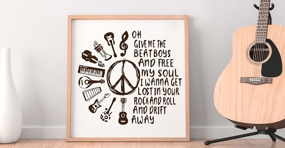 give me the beat svg design concept for gallery print