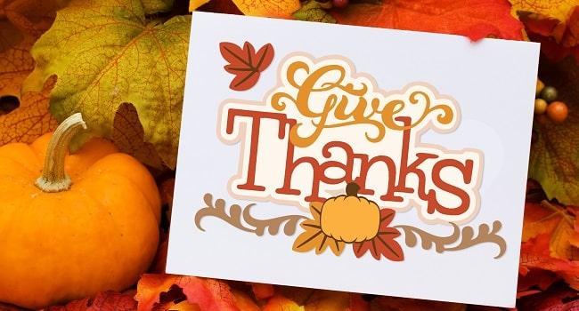 give thanks svg card design concept