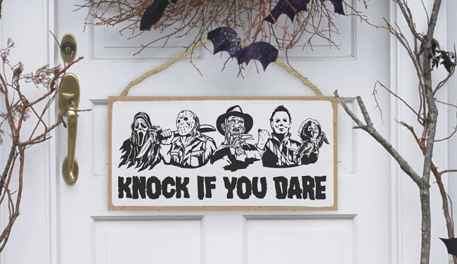 knock if you dare svg banner design concept
