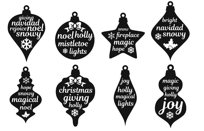 ornament word collage svg design