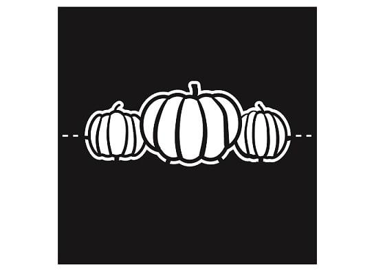 pumpkin svg table name card design