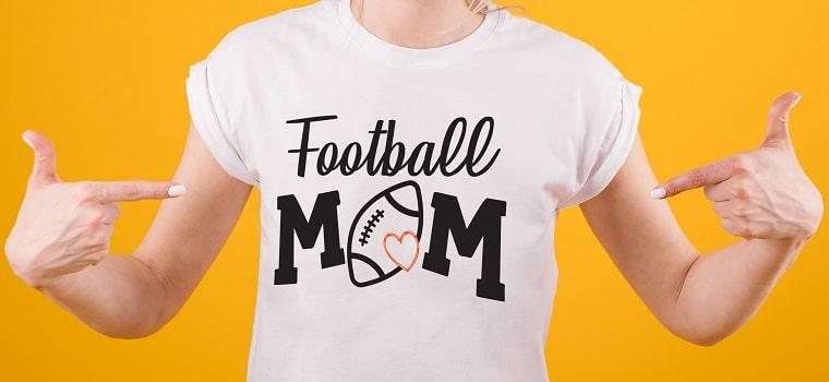 football mom svg t-shirt design concept